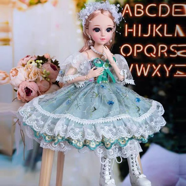 Brand new large cross-dressing simulation joint non-barbie doll BJD girl princeness toys SD60CM single birthday present