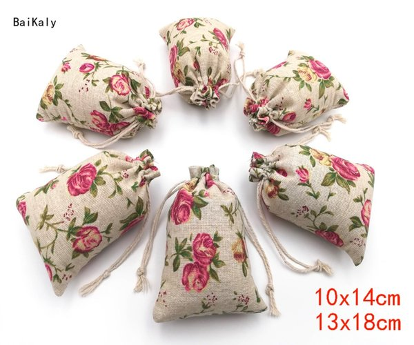 1000pcs Cotton Linen Bag Drawstring Pouch Jewelry Packaging Bags Wedding Pouches Birthday Party Favor Gift Packing Bags Supplies