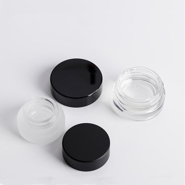 3g 5g limpian la botella cosmética del embalaje de la boca ancha del tarro de la crema del ojo del tarro de la crema del vidrio esmerilado