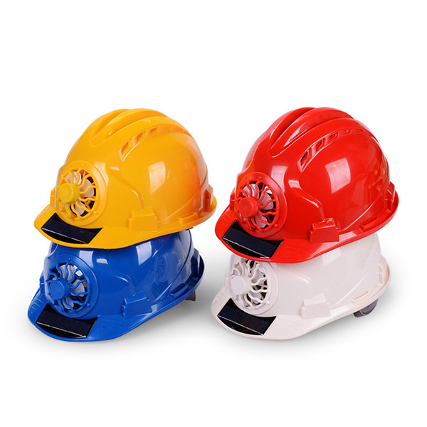 best selling Summer ventilated breathable solar energy helmet cooling safety hard hat with fan