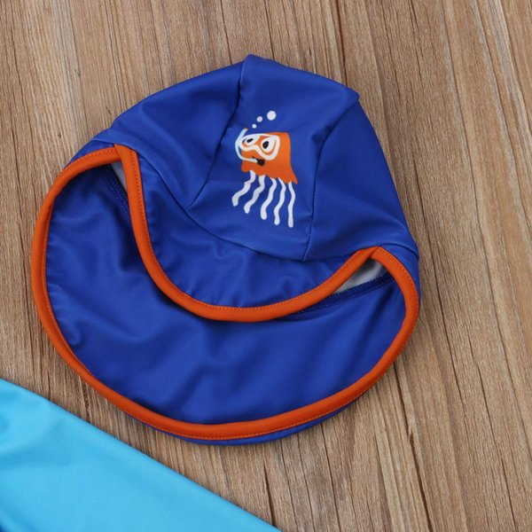 0ef0ebffc52a Hot Fashion Toddler Kids Baby Boys Swimwear Long Sleeve Cartoon Octopus  Swimsuit Bathing Suit Surf Clothes Sunsuit 3PCS