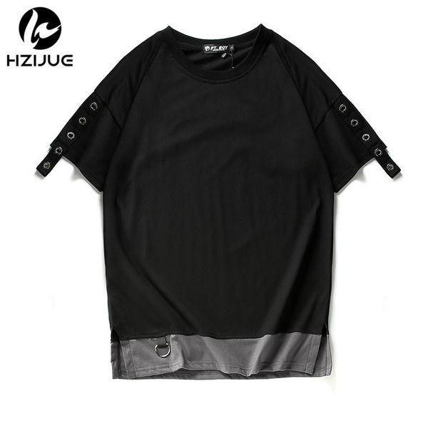 Hzijue Summer Men T Shirt Hip Hop Fashion Oversized High Stree Brand Clothing Kanye West Long Hem Style Top Tees Homme T Shirt Y190513
