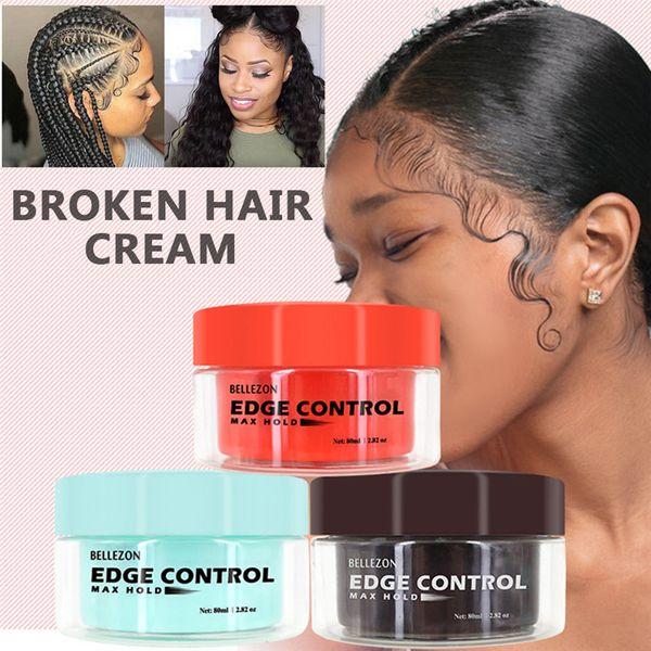 best selling Hair oil wax refreshing cream, long-lasting hair cream with edge control function, broken hair, anti-wrinkle styling gel