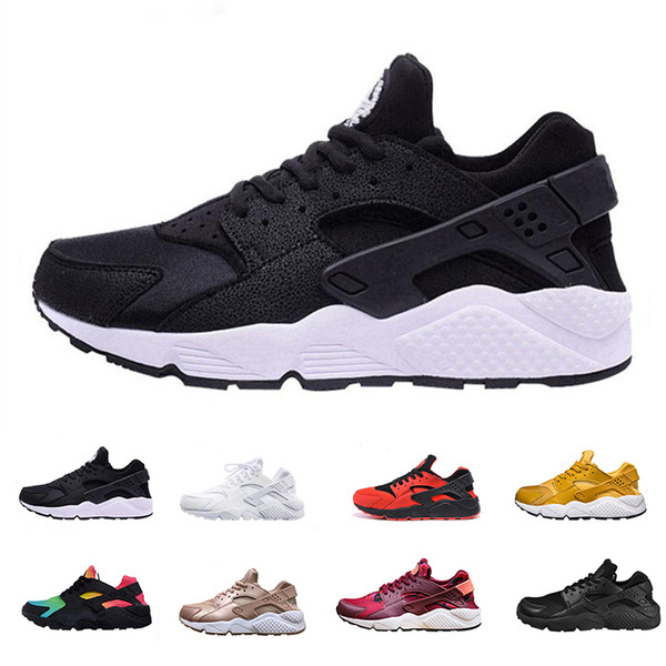 new styles 30144 6e411 Huarache 1.0 Running Shoes Men Women Navy Blue Tan Fashion Classic  Multicolor Denim Air Huaraches Sneakers Athletic Trainers Men Shoes Online  Best ...