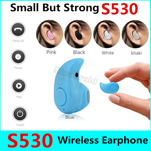 Mini S530 Invisible Wireless Bluetooth Earphone In Ear with Mic Handsfree Headset for All Phone for Samsung Huawei Smartphones Cheapest