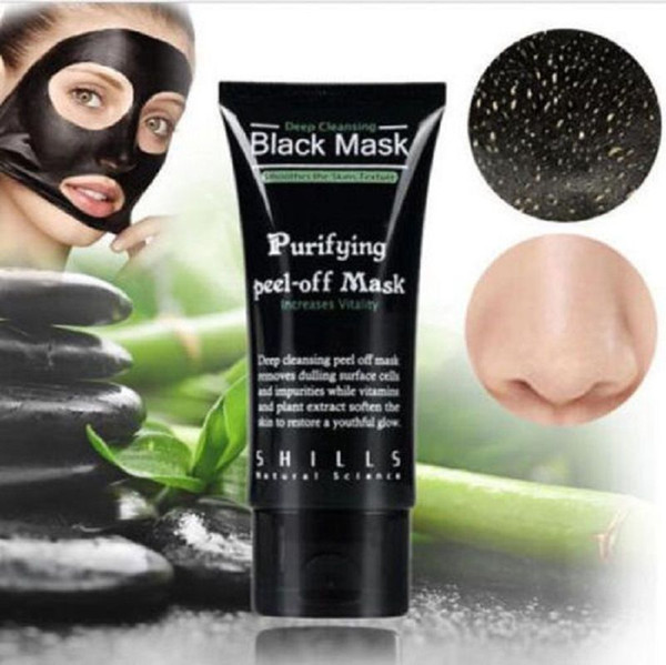 Black Suction Mask Anti-Aging 50ml SHILLS Deep Cleansing purifying peel off Black face mask
