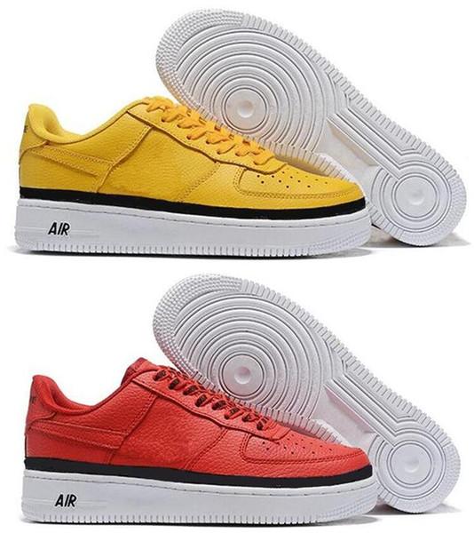 2018 di alta qualità di moda CORK Forzare AF1 Uomini Donne Solo una alta 1 Sport Shoes Low Cut Tutti Bianco Nero Marrone Colore casuale delle scarpe da tennis Taglia 36-45