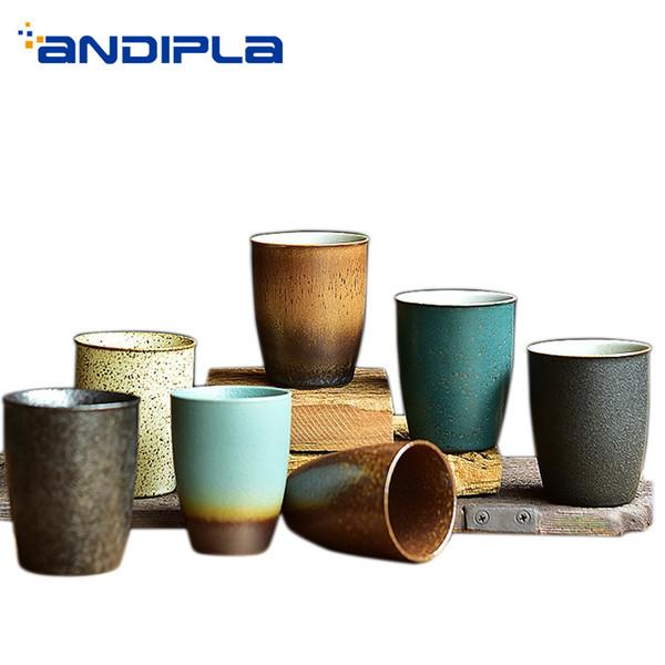 90ml / 150ml Vintage tazza in ceramica fatta a mano in ceramica Cup Espresso Tazzine da caffè Tazza da tè Maestro d'Acqua Tazze Bicchieri Teaware Container