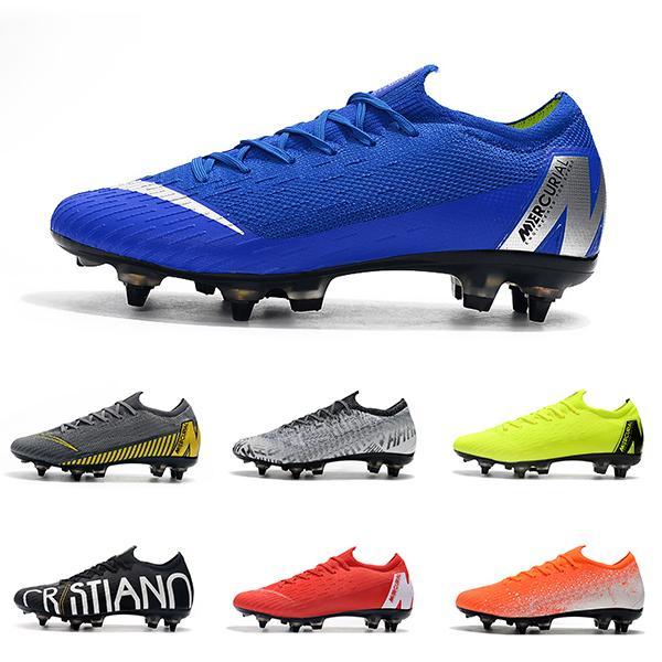 2019 m Yeni Gelenler 6 6 s VI 360 Elite Erkekler Futbol Ayakkabıları Low Cut Moda Marka Futbol Ayakkabıları Rahat Spor Ayakkabı Boyutu 39-45