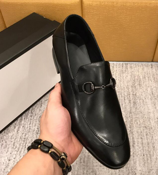 [Orignal Box] Luxury New Mens Business leather top formal Slip-On Gentleman Mode Brand Wedding Dress Fashionable Shoes Size 38-44