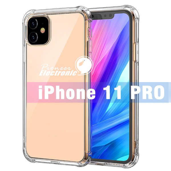 For iPhone 11 PRO MAX X XS MAX XR 7 8 Clear TPU Case Anti-Shock Soft Transparent Back Cover For Samsung Note 10 S10 Plus S10 E S9 Cellphone