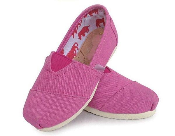 SıCAK çocuklar Rahat Ayakkabılar Classics Tom Sneakers erkek kız çocuk Loafer'lar Tuval Slip-On Flats ayakkabı Tembel loafer'lar Flats Espadrilles çocuk ayakkabı