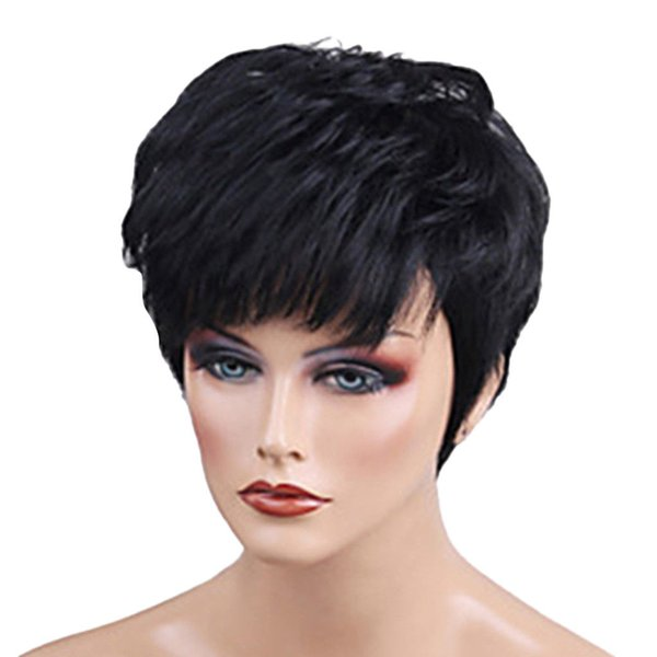 6 inch Afro Curly Black Wigs Pixie Cut Human Wig for African American Women>>>>Free shipping New High Quality Fashion Picture wig
