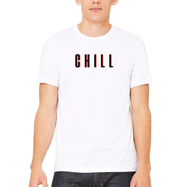 2019 Новая модная мужская футболка Футболки с коротким рукавом с принтом Chill Netflix Красно-черная рубашка Super Soft Teecool Футболки