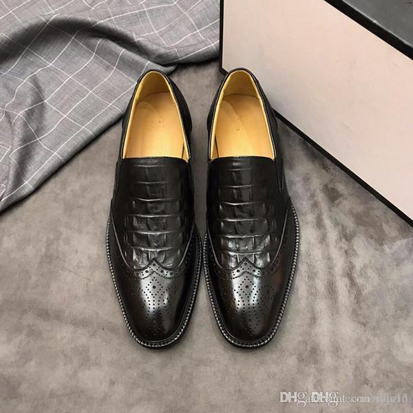 Best Brand designer Gentleman Party Bussiness Dress Slip On Loafers Shoes Dandelion Sneaker Red Bottom Oxford Luxury Men's size 38-45