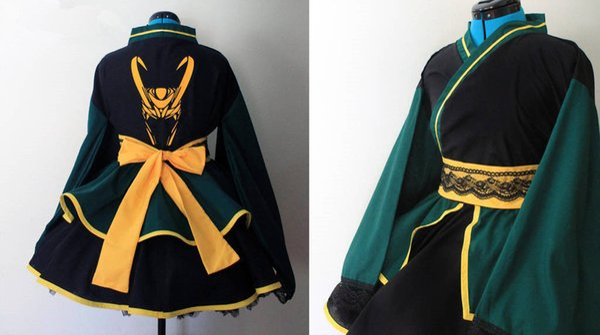 Loki - Thor + The Avengers - Cosplay Kimono Dress