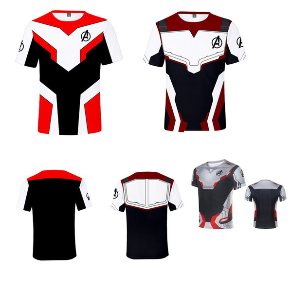 Avengers 4 Endgame the Advanced Tech T-shirt con stampa 3D Bambini Donna Uomo T-Shirt Costume Cosplay Manica corta Tees Tuta Top XXS-4XL A4907