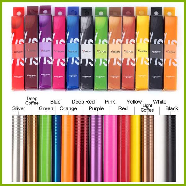 Vision 2 fileuse de la batterie de tension variable Ego Twist 13 couleurs 1650 mah Cigarettes électroniques 3.3V-4.8V Ecigs Pour E cigarette Vape Pen