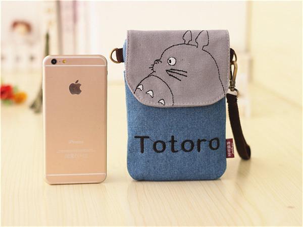 Novas Meninas tecidos Bonito Totoro Bolsa de Ombro Dos Desenhos Animados Kitty Coin Purse Mini Sacos Do Mensageiro Crianças Presente Feminino Bolsa Da Embreagem Saco Do Telefone