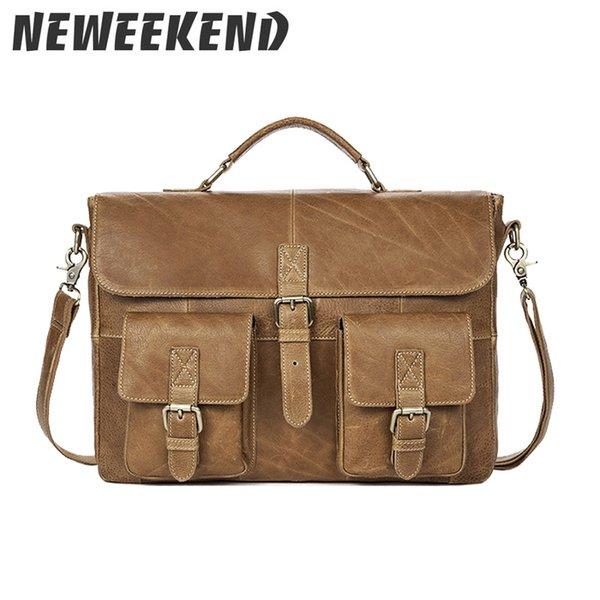 Men's Genuine Leather Briefcase Crossboody Shoulder Sling Handbag Portfolio Business Office Bag For Man MR8927 #222099