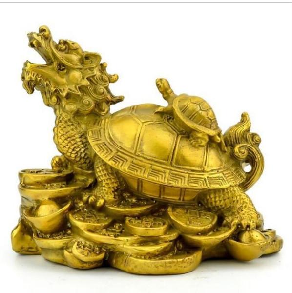 NUOVO ++ Prezzo speciale di rame puro, tartaruga drago, ornamento, soldi, madre e tartaruga, artigianato domestico Fengshui