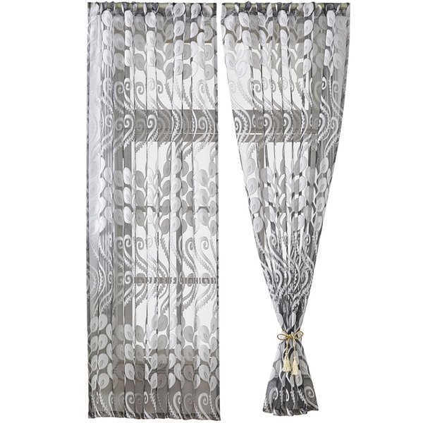 Hot Sale 100 x 130Cm Peacock Bird Tail Feather Curtain Sheer Window Curtains Modern Half Blackout Curtains For Living Room Bed