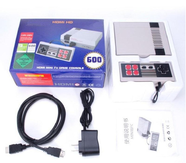 HDMI Mini Classic TV Game Consoles CoolBaby 600 Model video Game Player For 600 NES HD AV Games Console Birthday Xmas Christmas Gift