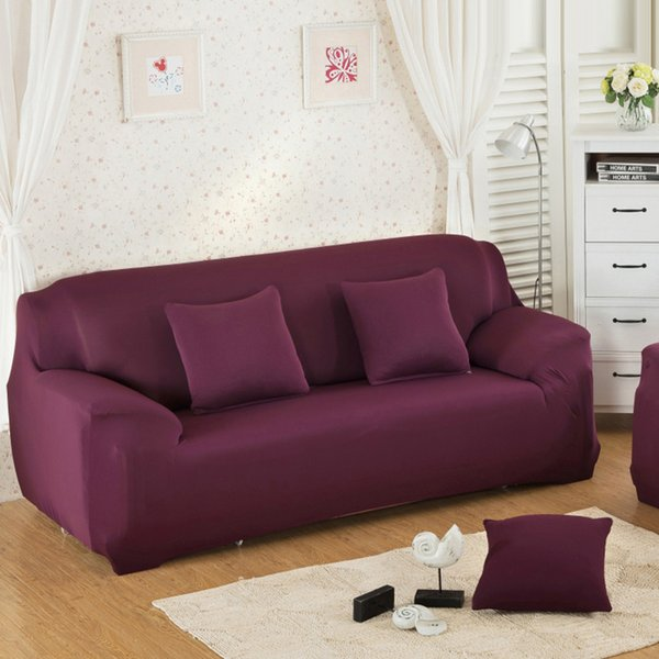 Solid Stretch Slipcover Three All Inclusive Generic Leather Sofa