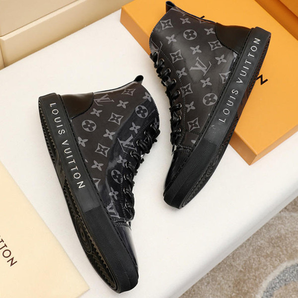 Mens Boots Casual Shoes High Top Rubber Sole Platform Leather Mens Work Boots Plus Size M#19 Hot Tattoo Sneaker Boot Sale Bottes Hommes