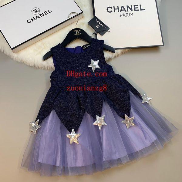 2019 été bébé filles robe chat Imprimé à manches courtes en mousseline de soie robe Enfants Vêtements Party Girl Dresses Enfants Vêtements filles EF-3