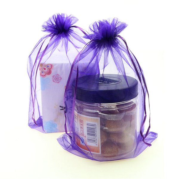 25pcs/lot 30x40cm Drawable Organza bag tulle fabric Wedding Gift Bags Jewelry Packaging Organza bags 6zSH321