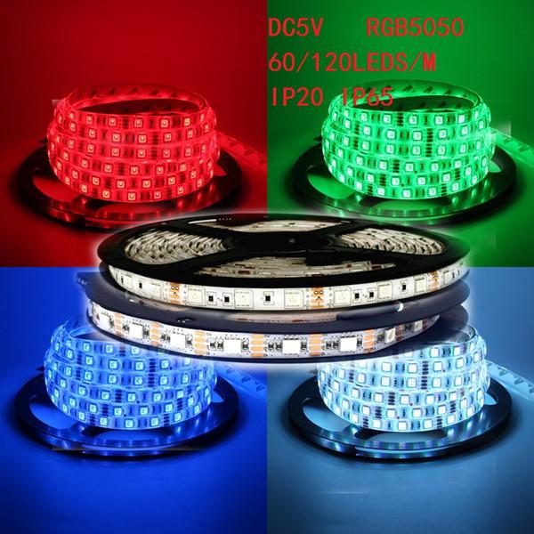 La lumière de bande menée par 5M DC12V 5050SMD RVB 300LED Fiexble a mené les lumières lumineuses superbes de ruban de LED