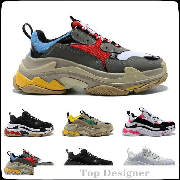 Luxus-Designer Sport-beiläufige Schuh Triple S Designer Low Old Dad Sneaker Kombination Soles Stiefel der Frauen Männer Runner Schuhe Top-Qualität T1C2