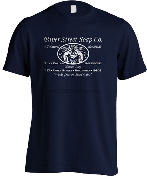 Club de la lucha - Calle Tyler Durden Papel Jabón Co 2019 más nuevas camisas de los hombres divertidos de la manera clásica