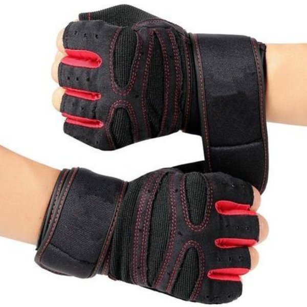 Professional Cycling Fitness Gloves, Dumbbell Wrist Guard Anti-skid Male and Female Equipment Strength Training Half-finge
