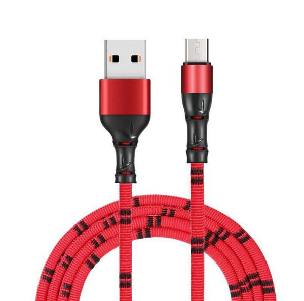 Joint de bambou Micro Câble USB Chargeur Rapide Câble En Nylon Tressé Chargeur USB Pour Xiaomi Huawei LG Samsung Téléphone Mobile USB Cordon De Charge