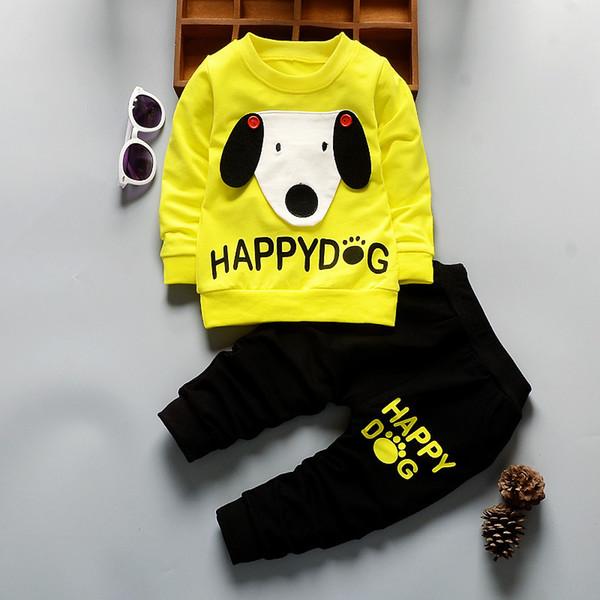 good quality Children Boys Clothing Sets Spring Autumn Kids Cartoon Dog Sweatshirts+Pants Clothes Set Child Boys Sport Suit Outfits