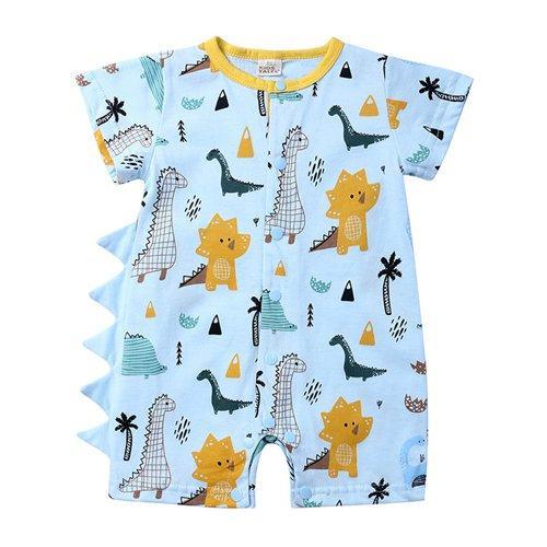 2019 summer baby infant dinosaur rompers unisex kids short sleeve jumpsuits toddler boys cotton bodysuits newborn onesies boutique clothing