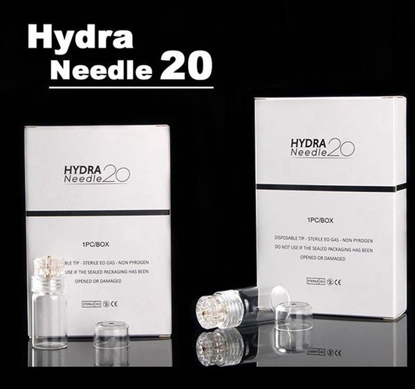 Hydra Needle 20 Gold Micro needles Automatic Tips Derma Roller with gel tube 6ml Skin Roller System derma stamp