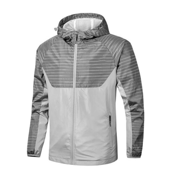 Дизайнер бренда куртки Hoodie Mens женщин ветровка на молнии Запуск куртки Серый Green Drop нашивки печати Ветровки Top B100298V Качество