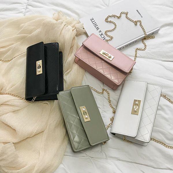Borsa a tracolla catena decor flap elegante borsa a tracolla borsa a tracolla donna elegante stile piatto borsa a tracolla FFA2112