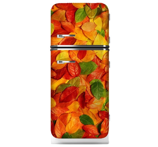 Fridge Wrap /Autumn Leaf /Removable Self Adhesive Vinyl /Peel and Stick Decal Wallpaper