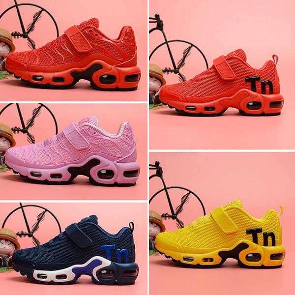 Nike Air TN Plus 2018 Nouveau Plus chaussures de design Enfants Baskets Ensemble de Chaussures Triple pour Enfants Garçons et Filles Air Ultra TN Chaussures de Course taille 28-35