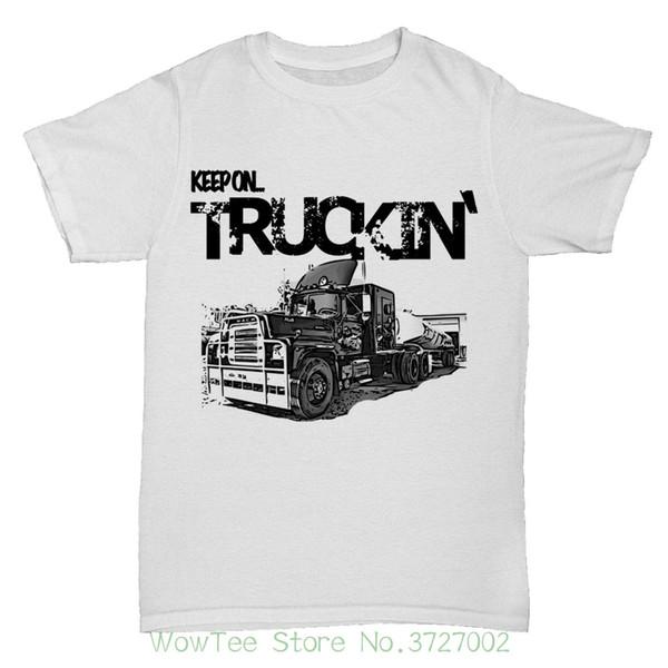 Convoy Autotrasporti Trucker Van Lorry Route 66 Usa America Mens 1 T Shirt Mens Print T-shirt 100% cotone