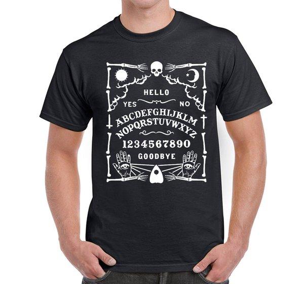 Slogan dos homens T Camisa Ouija Board Esqueleto Gótico Halloween Fantasma Caçador V2 frete grátis Algodão Homens Modelos Básicos Clássicos tee