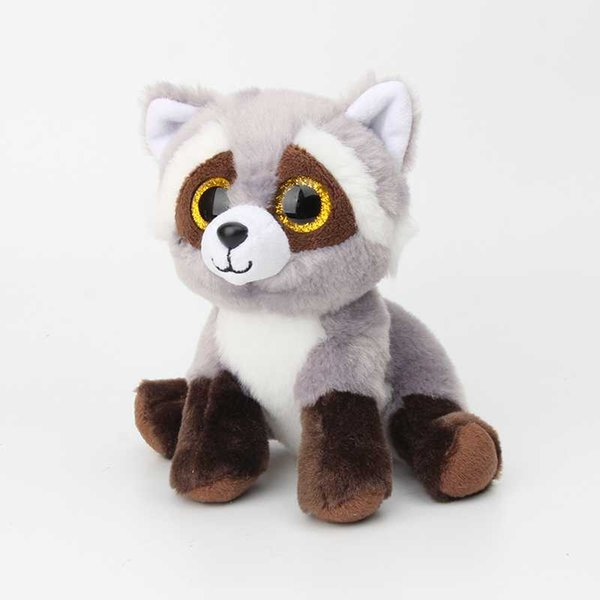15CM New Ty Beanie Big Eyes Stuffed Animals Raccoon bear panda Pig Plush Toys Plush For Children girl Christmas New Year Gifts