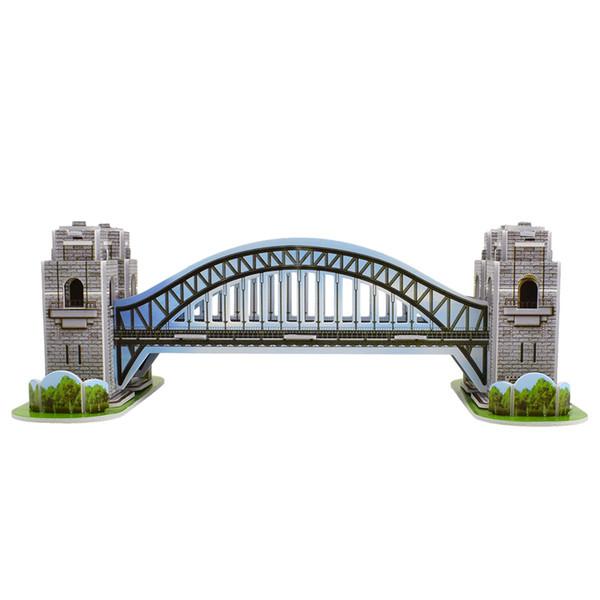 best selling 3D Foam Sydney Bridge Puzzle Toys for Children Adults DIY Assembling Building Model Kits Toys for Kids Improve Cognitive Ability Home Decor