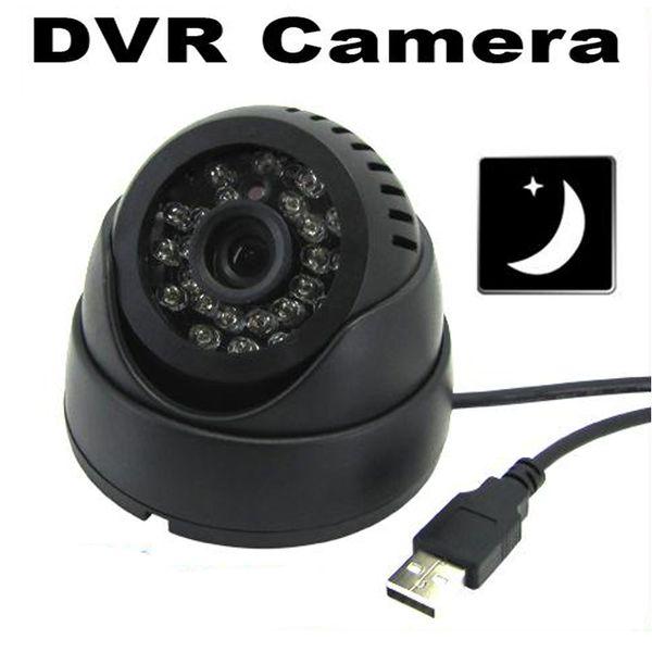 24 IR Led Akıllı Algılama Kapalı Video Gözetim Kaydedici Kızılötesi Gece Görüş Güvenlik CCTV DVR Kamera Ile TF Kart Yuvası