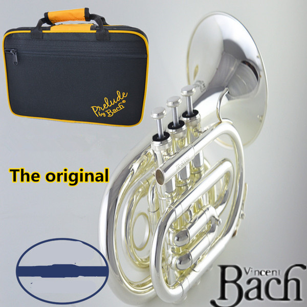 American original Bach Palm number /pocket trumpet musical instrument Professional trumpet music instrument Fall B silver plated