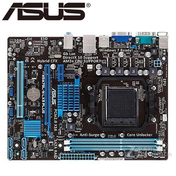 Asus M5A78L-M LX3 PLUS Desktop Motherboard 760G 780L Socket AM3+ DDR3 16G Micro ATX UEFI BIOS Original Used Mainboard